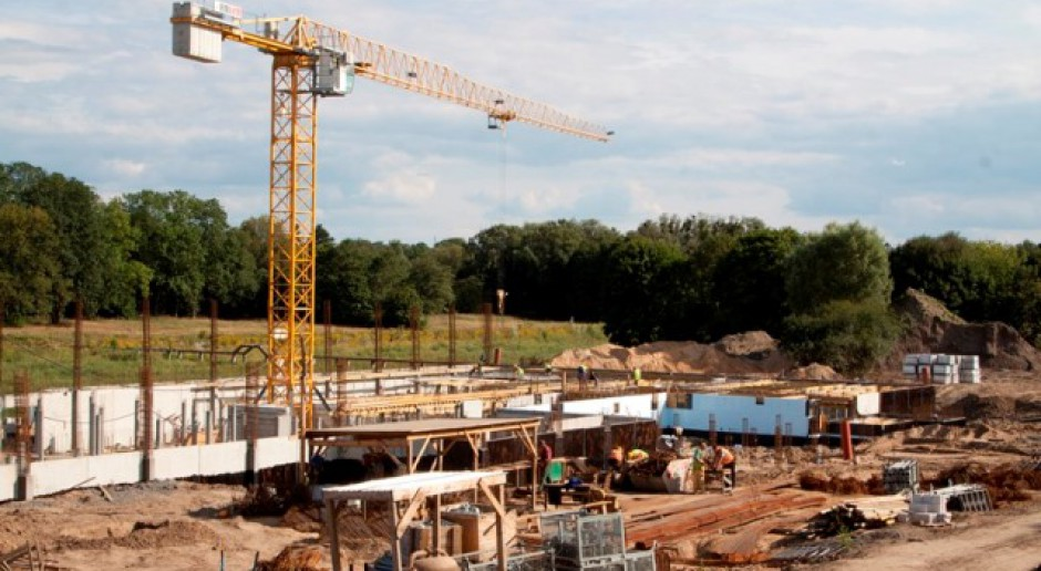 Prace postępują na budowie Centrum Rekreacji Wodnej w Elblągu