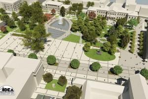 Tańcząca fontanna, miejski ogród i kawiarnia. Rewolucja na Placu Litewskim