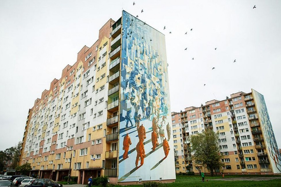 Najwiekszy Mural W Europie Powstal W Lodzi Architektura