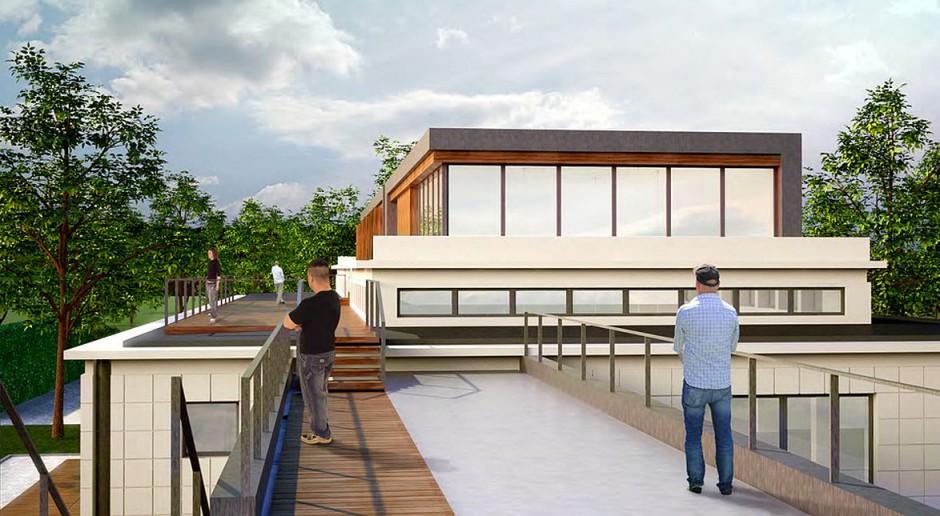 Hala Buddów projektu Grupy 5 Architekci osiągnęła stan surowy