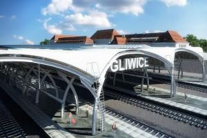 Koncepcja gliwickiego dworca od PAS Projekt Archi Studio z wykonawcą