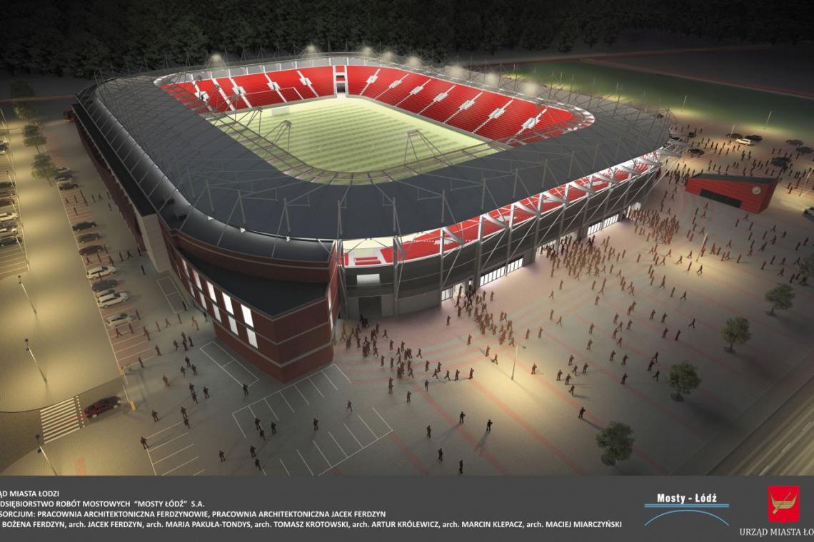 Trwa budowa nowego stadionu miejskiego w Łodzi