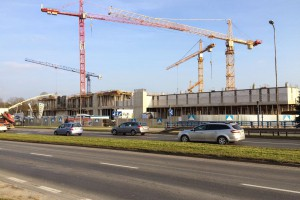 Najnowsze zdjęcia z budowy galerii Nowy Rynek w Jeleniej Górze
