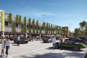 Manufaktura z ekologicznym i inteligentnym parkingiem