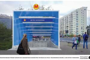 Tak będą wyglądały zadaszenia wejść stacji metra Kabaty i Służew