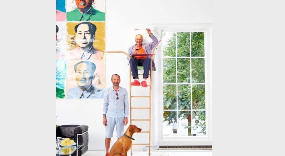 Architekt Richard Rogers projektuje siedząc na drabinie