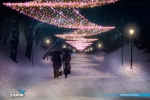 Łazienki Królewskie oczarują świąteczną iluminacją