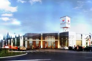 Industrialny Outlet Center Lublin koncepcji Agencji A-4 Smaga i wspólnicy
