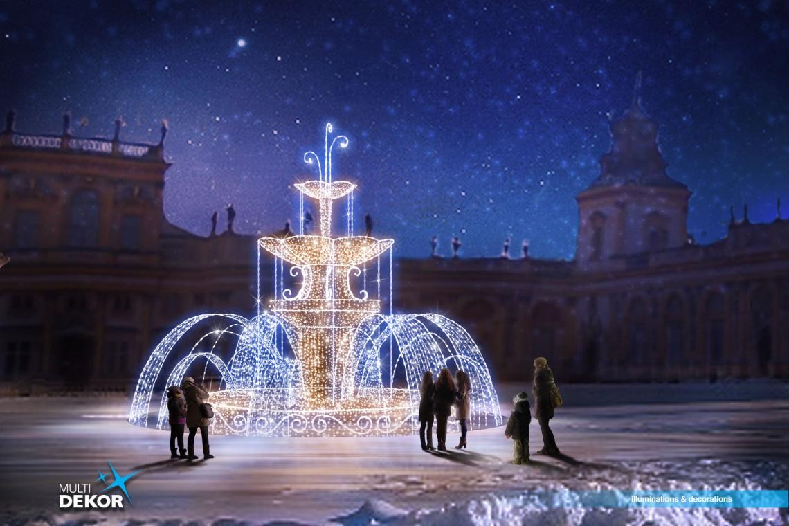 Rozświetlony Pałac w Wilanowie zachwyci w święta