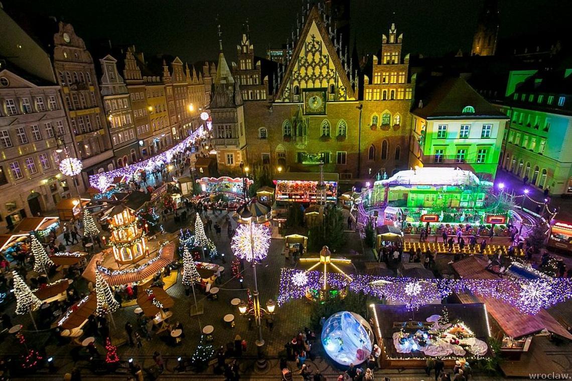 Wrocław: Jarmark Bożonarodzeniowy i iluminacje świąteczne