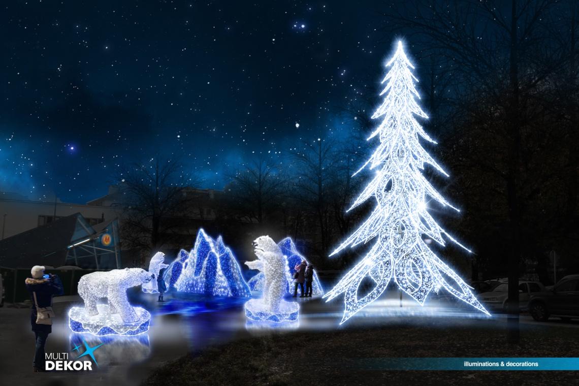 Świąteczny blask dekoracji na prawym brzegu Wisły