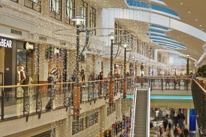Świąteczna Arkadia - oto subtelny, zimowy wystrój galerii