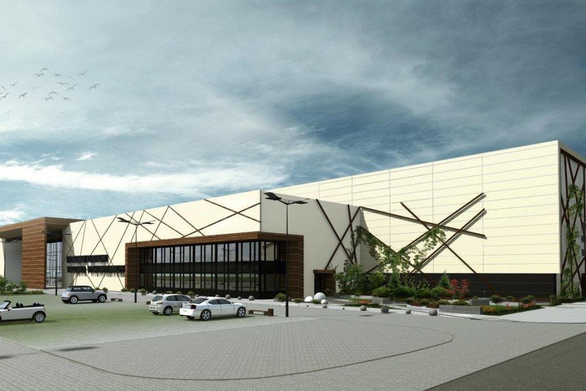 Centrum Targowo-Wystawiennicze w Bydgoszczy z kamieniem