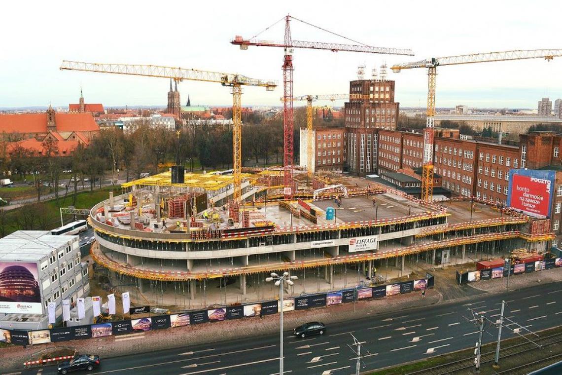 Konstrukcja OVO Wrocław urosła już do połowy