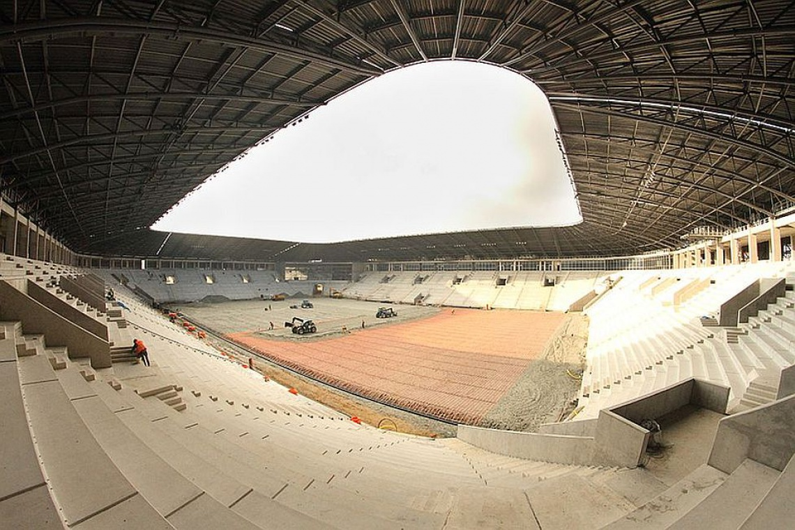 Zobacz zdjęcia z budowy stadionu GKS Tychy z koncepcją Perbo-Projekt