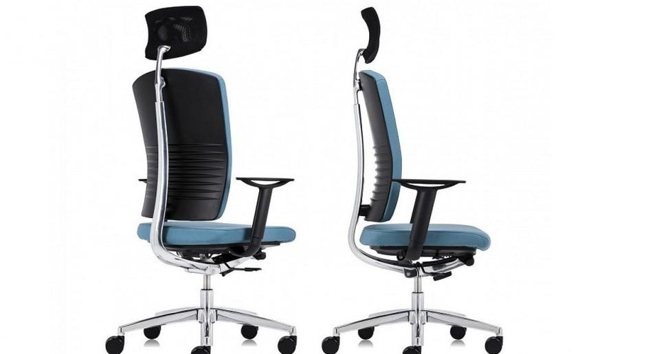 Fotel EL 100 marki Sitag nawiązuje do przemysłowej estetyki
