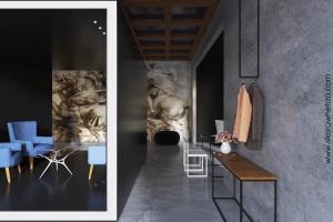 Projekt koncepcyjny butiku w stylu minimalistycznym