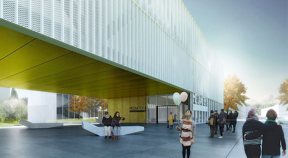 Projekt 22 Architekci: Mediateka na Placu Zwycięstwa w Pile
