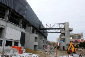 Zobacz noworoczną fotorelację z budowy stadionu GKS Tychy
