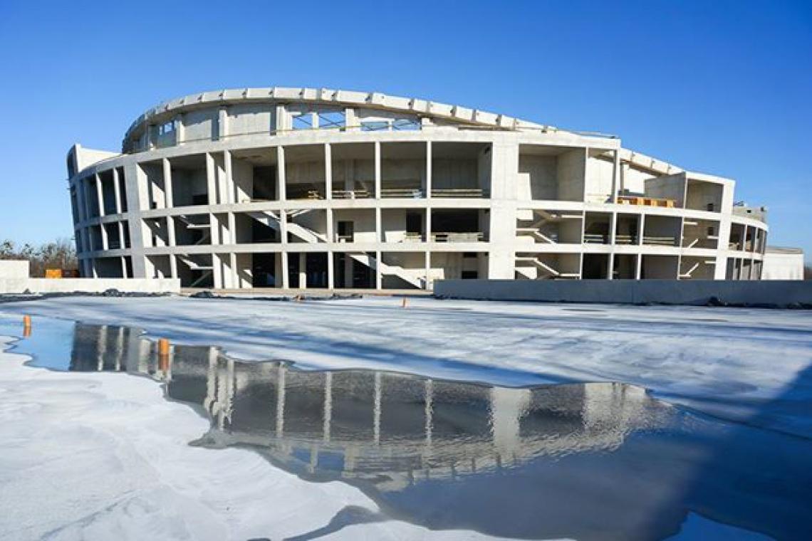 Co słychać na budowie Hali Gliwice, projektu Perbo-Projekt?