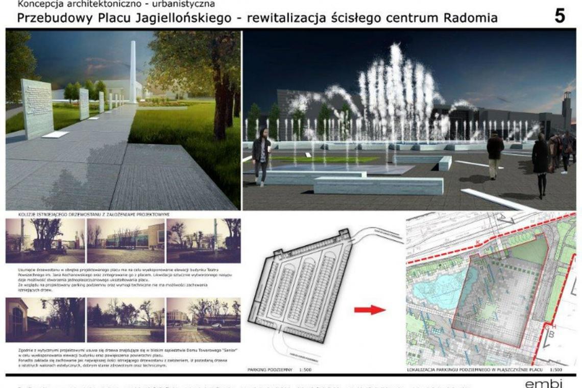 Plac Jagielloński w Radomiu już ze wstępną koncepcją