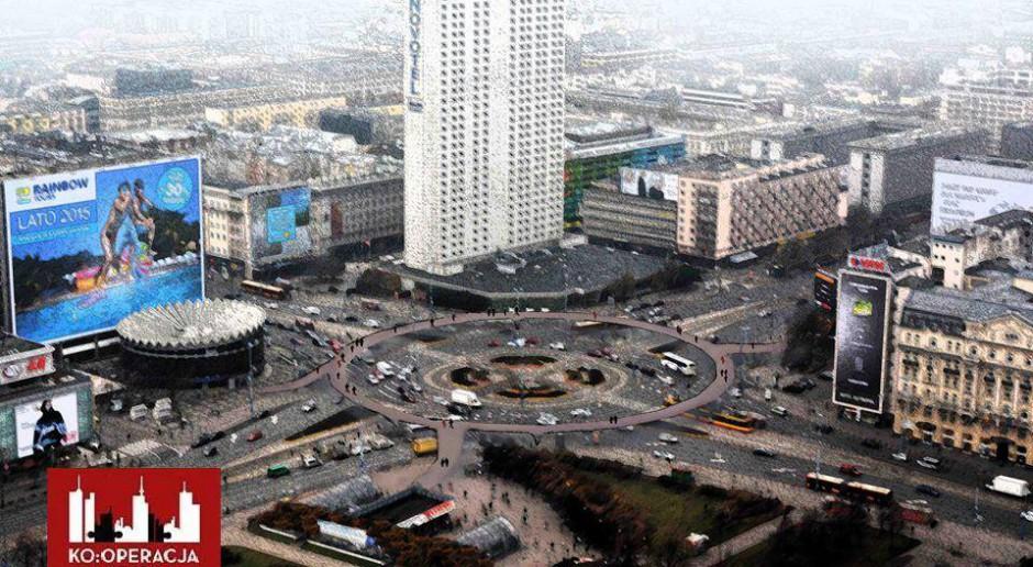 Okrągła kładka dla pieszych nad rondem w centrum Warszawy?