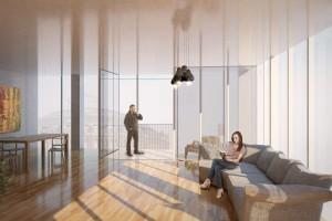 Skręcona wieża w Wiedniu projektu MVRDV