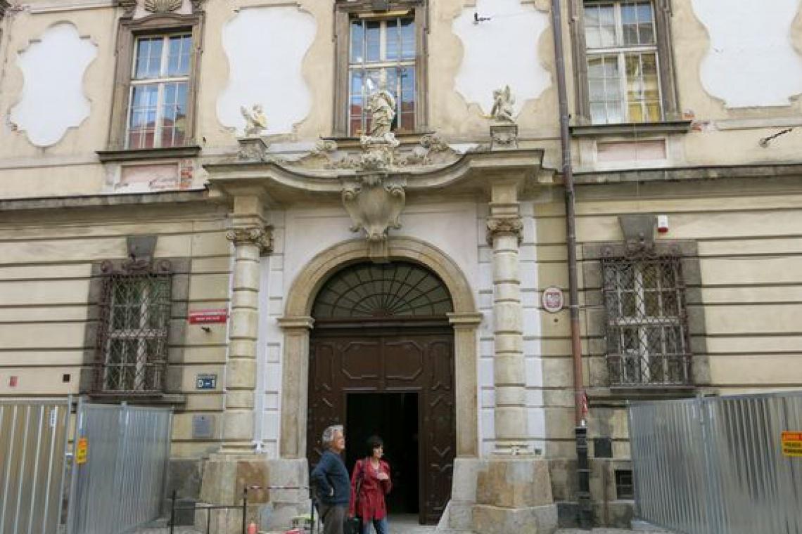 Remont elewacji barokowej siedziby Biblioteki Zbiorów Specjalnych