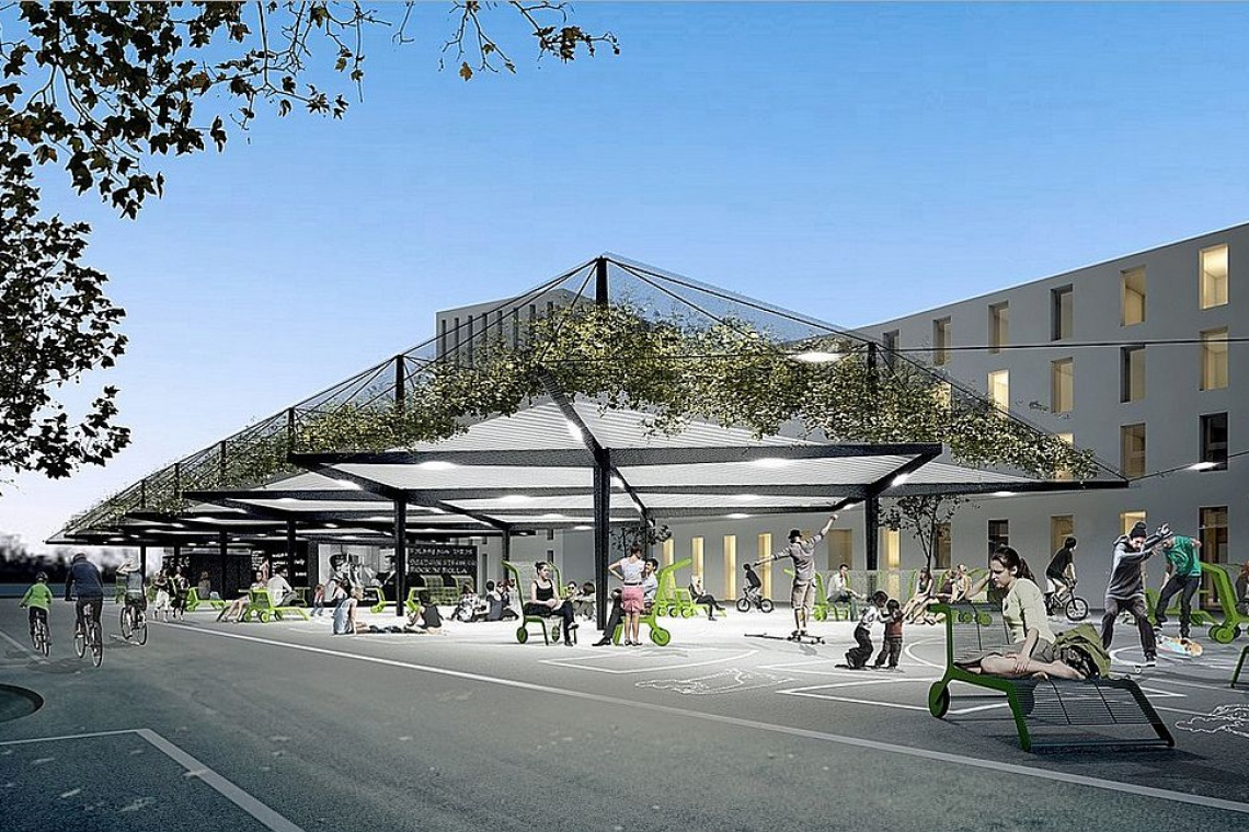 To nie tylko targ, ale miejsce rekreacji i spotkań - projekt Biura BASIS