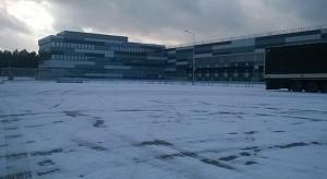Centrum dystrybucyjne Lidl z gotową elewacją
