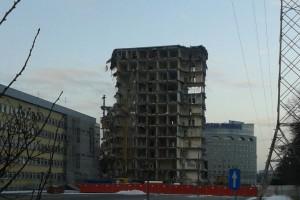 Zobacz jak znika stara siedziba TVP przy Woronicza