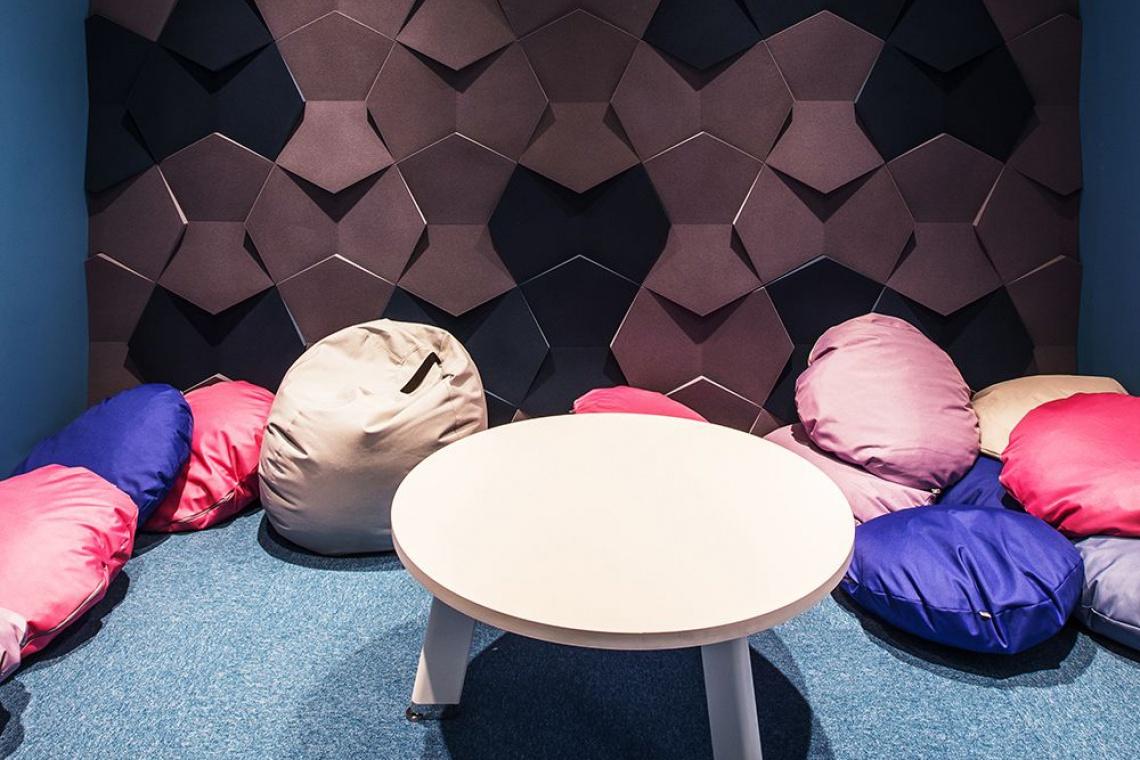 Miękkie ściany w biurze? Tak - oto kolorowe i designerskie wnętrza