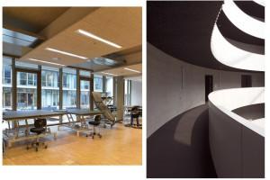 W tych obiektach panele akustyczne zastosowano w twórczy sposób