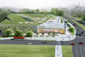 Tarasy Zamkowe będą miały nie tylko niezwykły dach, ale też elewację