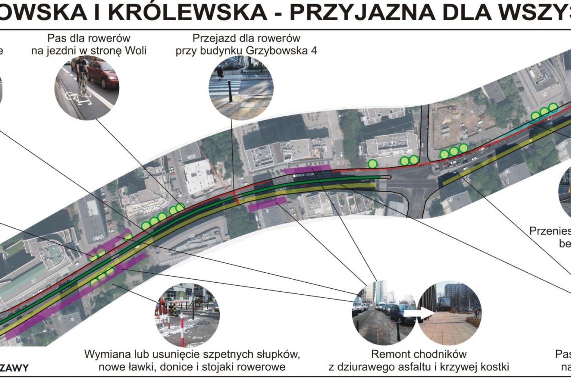 Warszawa: FRW chce ulic dla ludzi i więcej zieleni