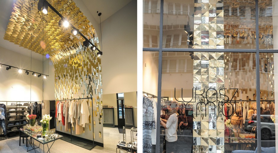 Złote wnętrze dla mody od Mood Works