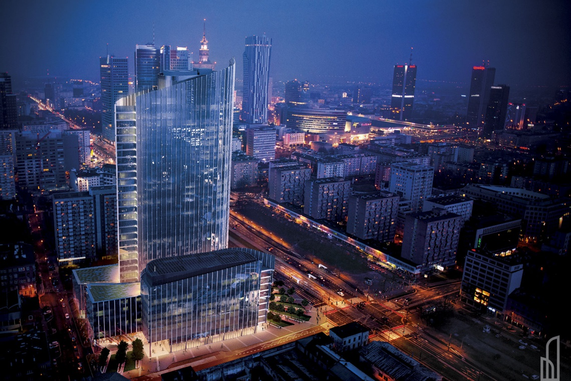 Mennica Legacy Tower - będzie 130-metrowa wieża w Warszawie