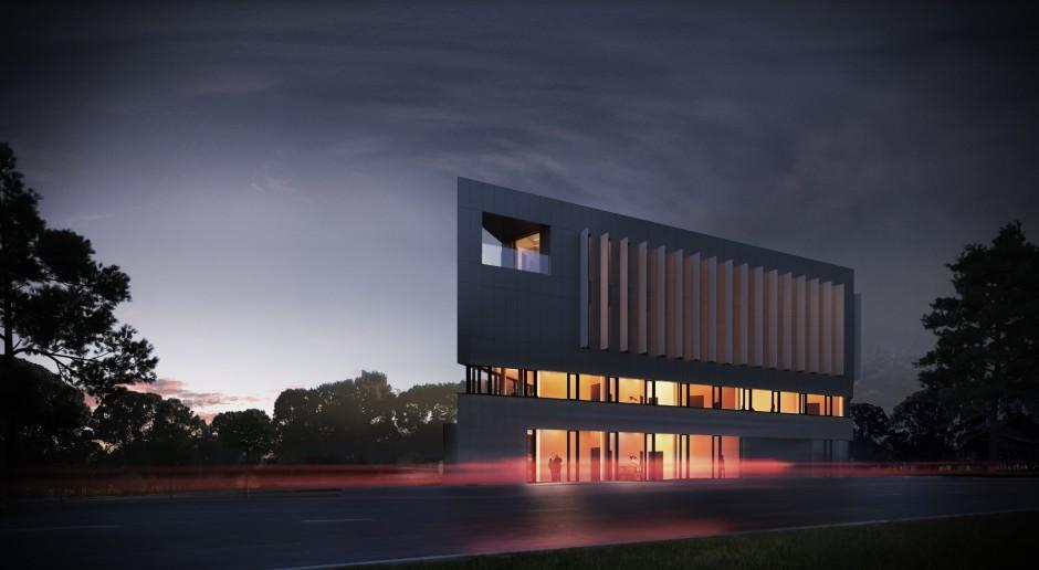Budynek jak kwarc z unikalną bryłą