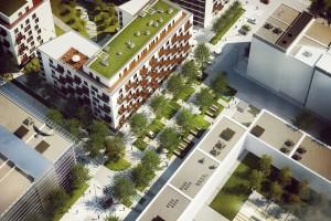 Plac miejski na Mokotowie projektu Jasiński Kruszewski Architekci