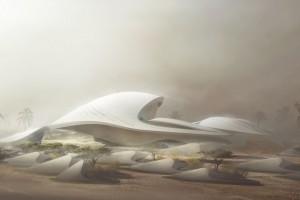 Najnowszy i jak zawsze niezwykły projekt Zahy Hadid - siedziba firmy Beeah