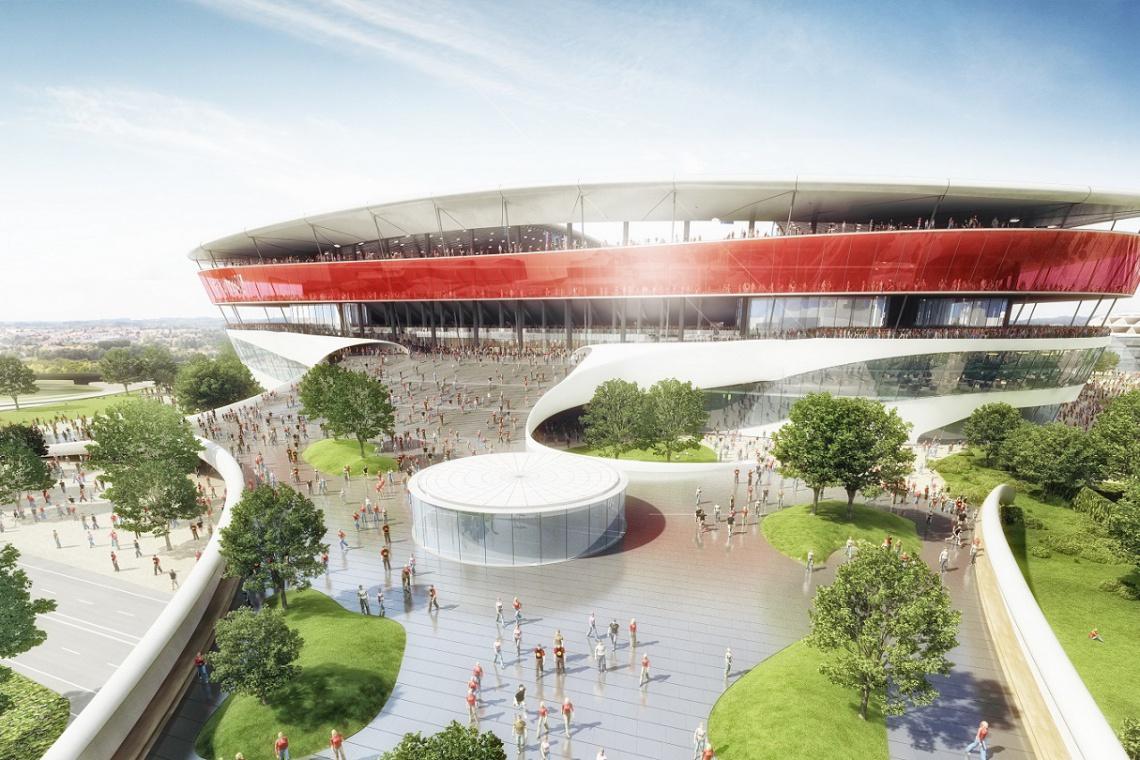 Innowacyjny Eurostadium zaprojektowali Ghelamco, Massive Design, Aedas i inni
