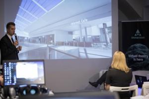 Centrum Posnania oglądana na interaktywnej wizualizacji