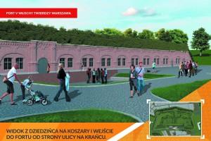 Jak zrewitalizują Fort Włochy - dzielnica przedstawia propozycje