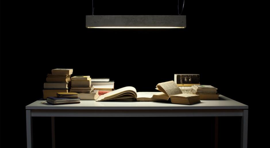 Betonowa lampa dla wielbicieli minimalizmu