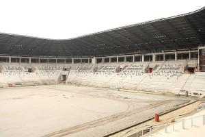 Budowa Stadionu Miejskiego Tychy na ukończeniu