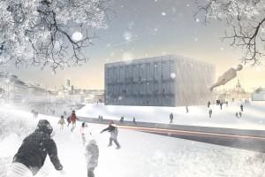 Muzeum Guggenheima według koncepcji architektów z Projekt Praga