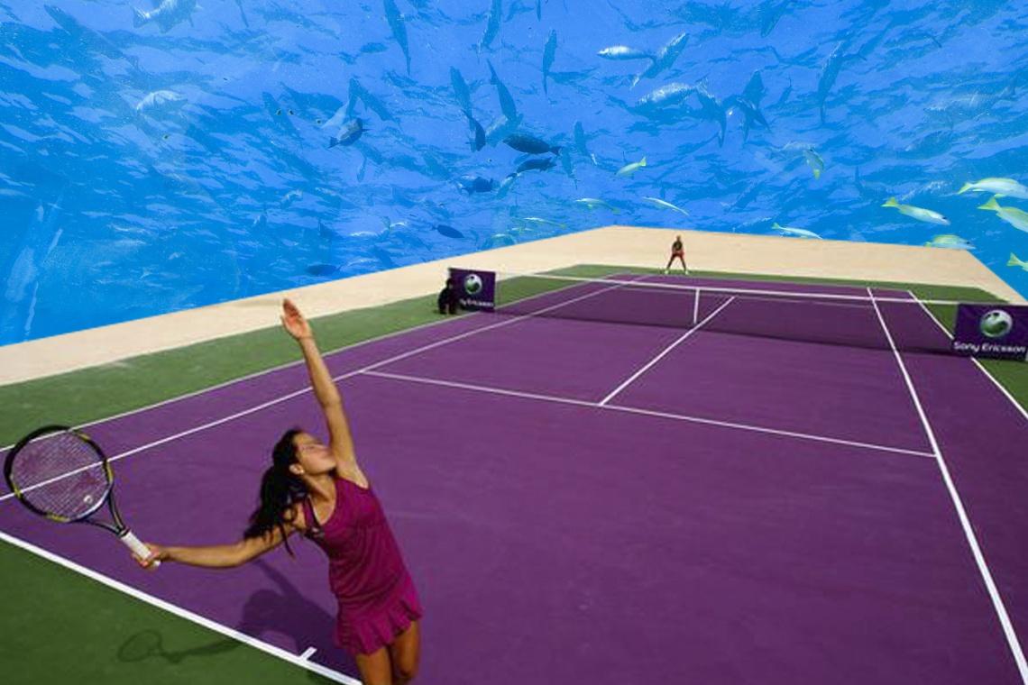 Gra w tenisa na dnie morza? Niezwykły projekt Krzysztofa Kotali