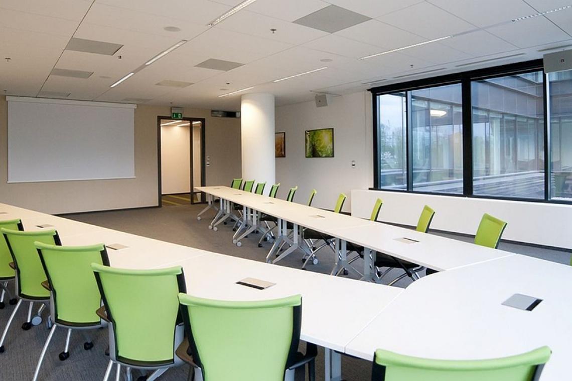 Sale konferencyjne w Eurocentrum Office Complex zaprojektowali KSArchitekci