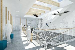 Pomysł pracowni Boom Studio na pawilon edukacyjny nad Wisłą