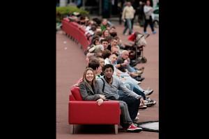 Najdłuższa sofa świata projektu BoConcept z tournée po Polsce